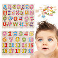 Kids Puzzles Learning Toys Journey Lift and Learn Plastic ABC 123 Puzzles Children Initiation Toy Fast Delivery
