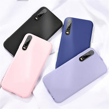 Solid Permen Warna Silikon Case untuk Samsung Galaxy A50 A30 A40 A10 A20 A70 M10 M20 M30 A7 2018 A750 kasus Gel Back Cover Coque(China)