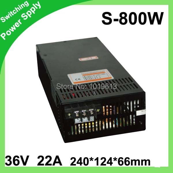 Retail Switching Switch Power Supply for LED Strip light Lights 36V power 22A 800W цена и фото