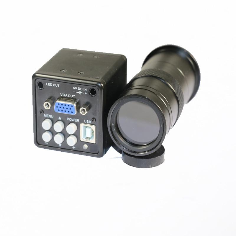 CCD CMOS USB VGA промышленный микроскоп видеокамера + 8X 130X C Mount Пайки PCB bga IC ремонт телефона