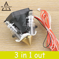 Diamond 3D Экструдера Принтер Hotend 3D V6 радиатор 3 В 1 Multi Сопло КОССЕЛЬ полный комплект для 1.75/0.4 мм