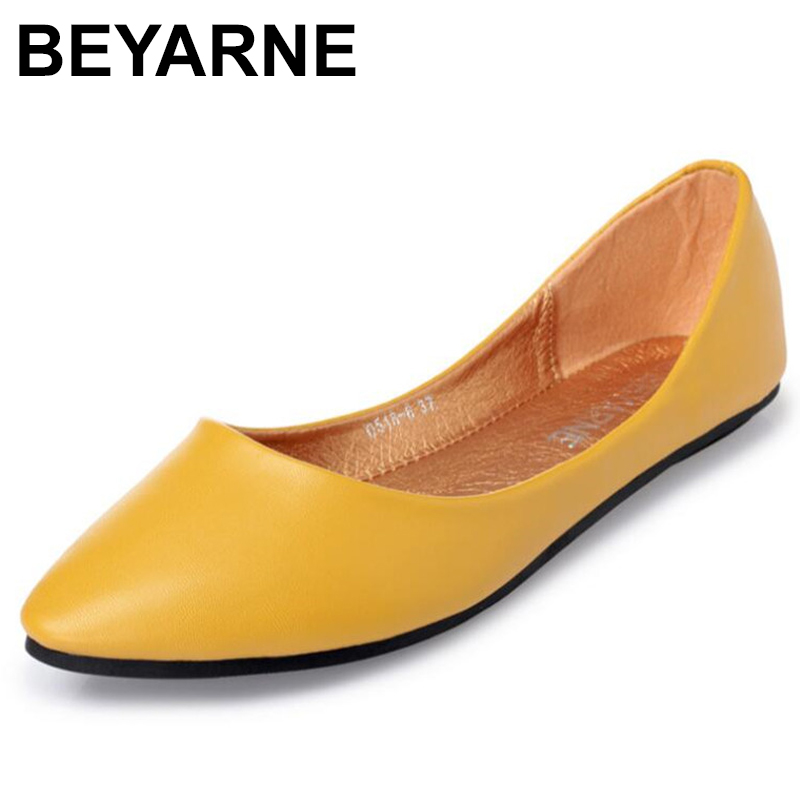 BEYARNEGenuine Leather Flat Shoes Woman Hand-sewn LeatherLoafers Cowhide SpringCandy ColorCasualShoes Women Flats Women ShoeE531
