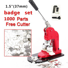 """Дешевые продажи 37 мм(1,"""") набор жестяных значков, машина для изготовления значков, пресс-машина с 500/1000 шт, кнопка"""