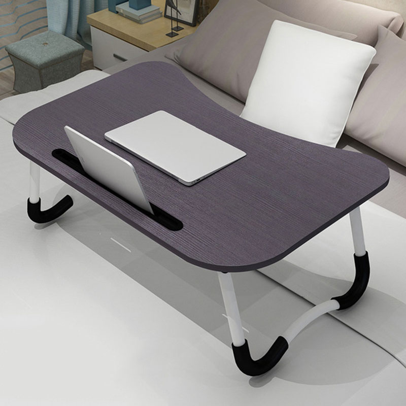 Adjustable Laptop Table Bed Notebook Stand Desk With Card Slot With Non-slip Mat Folding Portable Small Table Ergonomic Desk