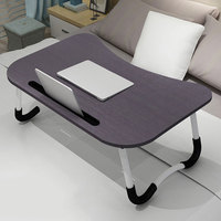 Adjustable Laptop Table Bed Notebook Stand Desk With Card Slot With Non slip Mat Folding Portable Small Table Ergonomic Desk