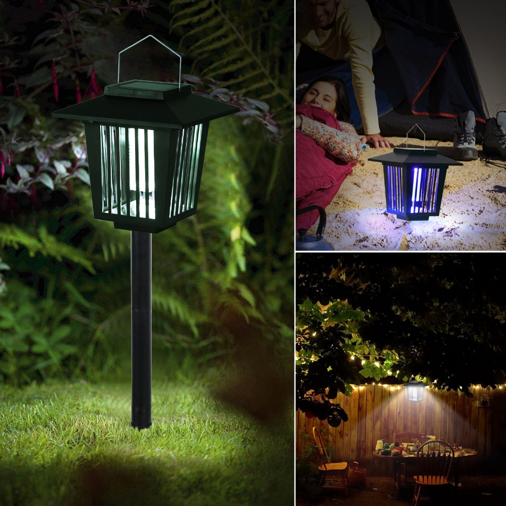 T-SUNRISE 3 LED Mosquito Killer Lamp Outdoor Solar Power Energy Charger Garden Led Moskito Insect Killer Lamp