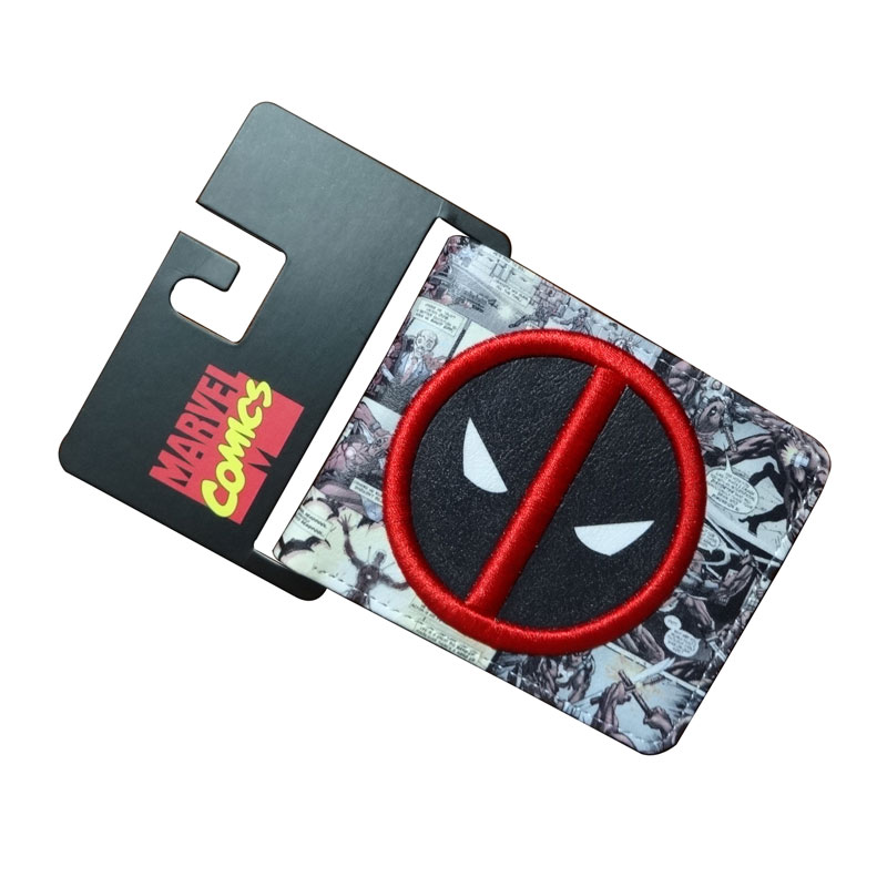 2017 New Marvel Comics Deadpool Wallets Gift Purse Men Women Card Holder Bags PU Leather Short Wallet 11.5*9cm