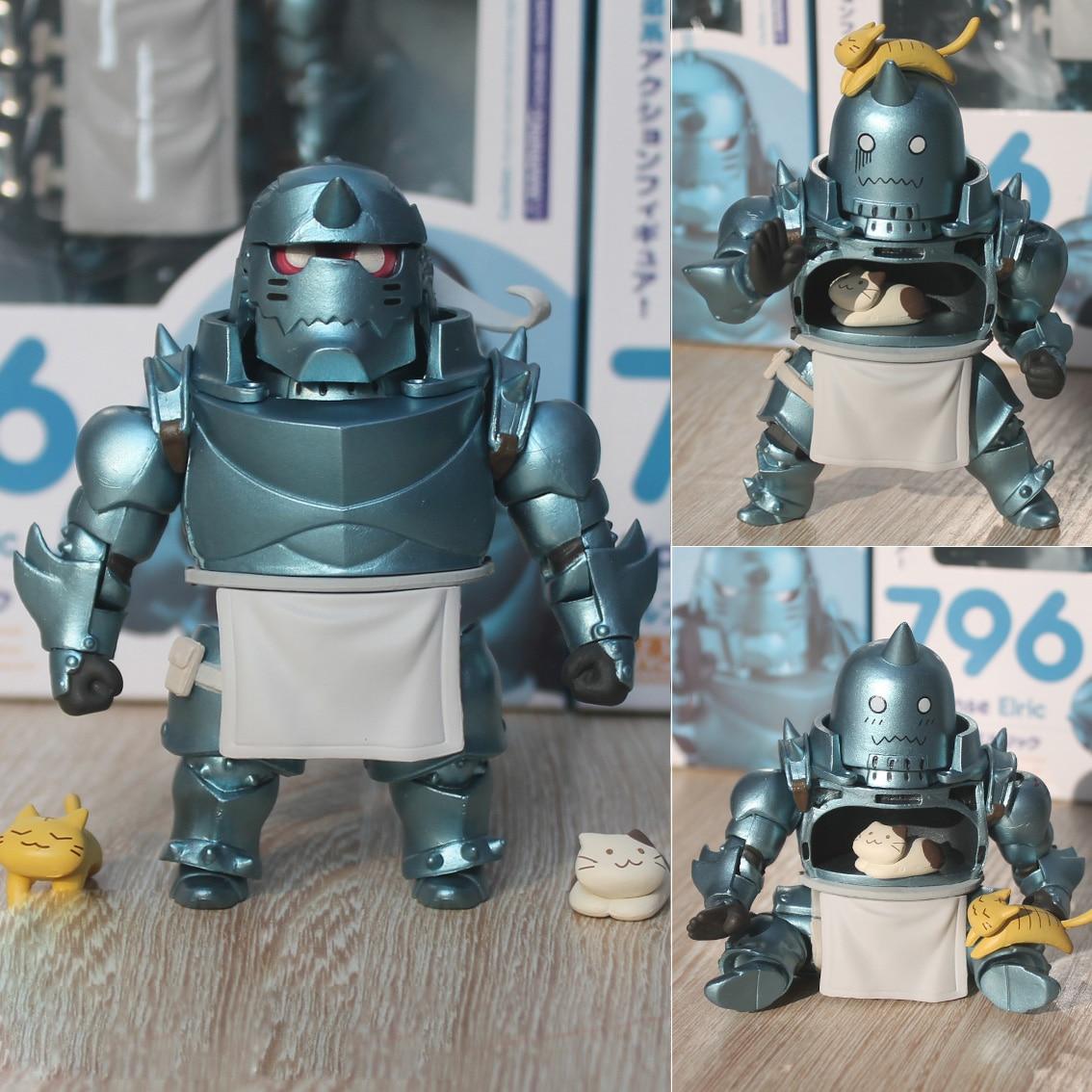 Nendoroid Fullmetal Alchemist Edward Elric 788 Alphonse Elric 796 Cartoon Toy Action Figure Model Doll Gift