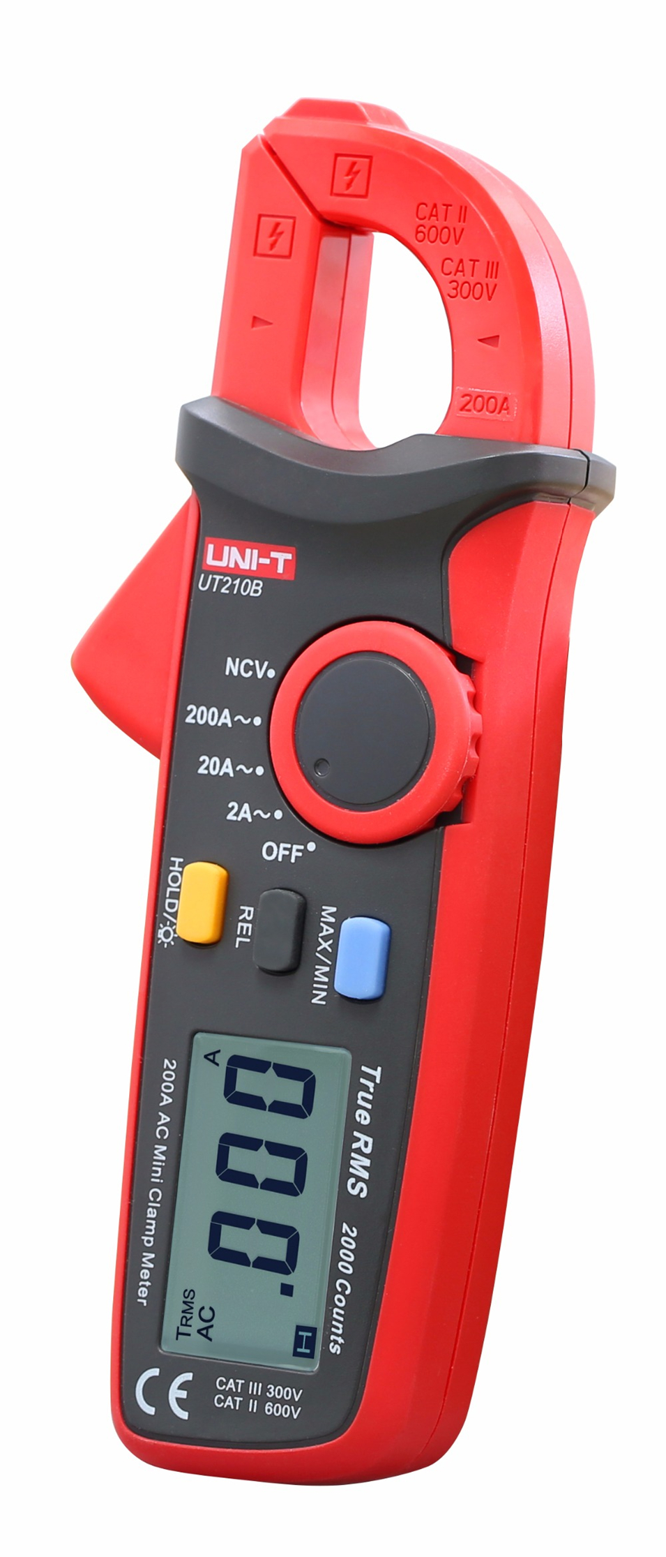 Handheld UNI-T UT210B True RMS 200A AC Mini Clamp Meters Ammeter w/ NCV professional multitester 5050 rgb 4 pin led strip connector corner 10mm dc 12 24v