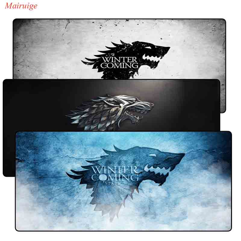 Mairuige Game of Thrones gamer 900x400X3mm Lock Edge mouse mat large gaming mousepad large High-end pad mouse PC desk padmouse mairuige hot selling large size anime darling in the franxx 02 mousepad game gaming pad mat diy padmouse lock edge table mat