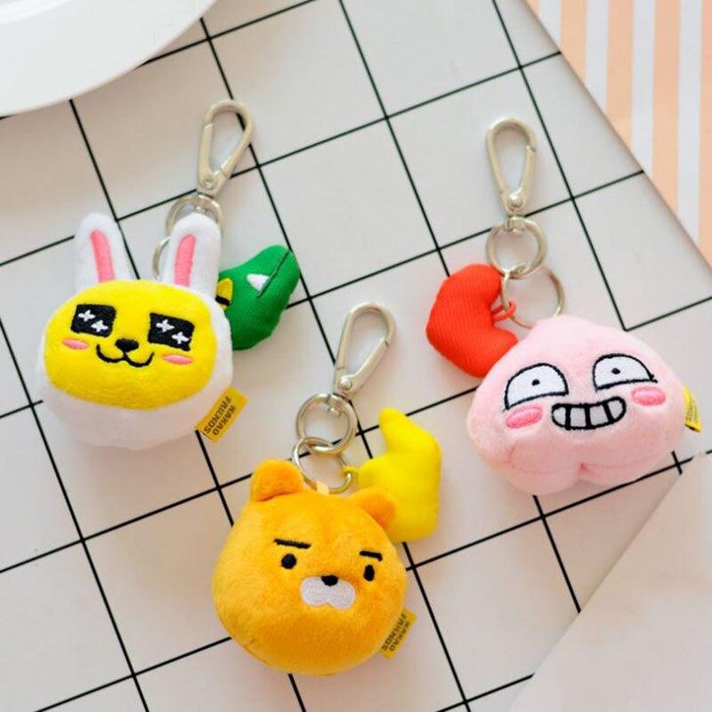 1 Pc Kawaii Cocoa Friends Plush Keychain Bag Pendant Korea Cartoon Ryan Keyring Stuffed & Plush Toys Plush Dolll Kids Gift