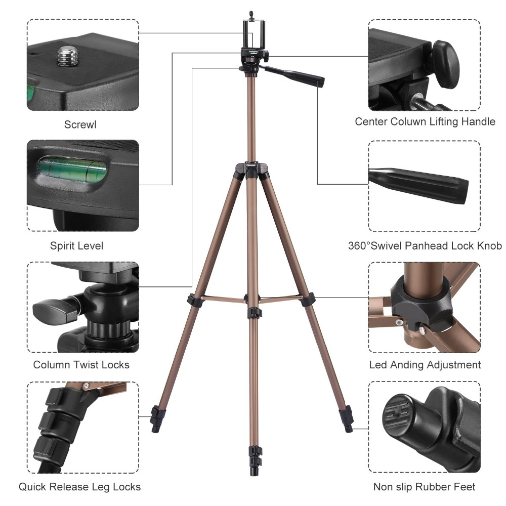 tripod for phone with remote control holder stand tripod for phone bluetooth and camera smartphone tripods cam dslr mount        (2)
