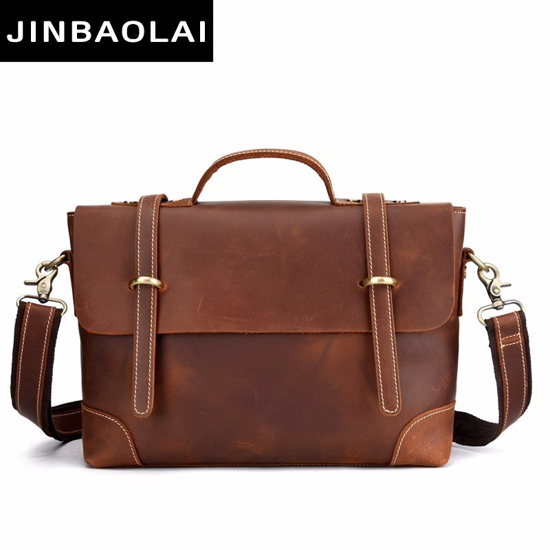 New Fashion Cow Genuine Leather Crossbody Bag For Men Shoulder Bags Business Men's Briefcase Handbags High Quality Messenger Bag