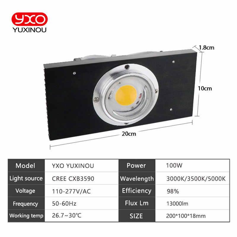 CREE CXB3590 100 W COB LED crece la luz de espectro completo Samsung LM561C S6 LED creciente lámpara para planta de crecimiento iluminación