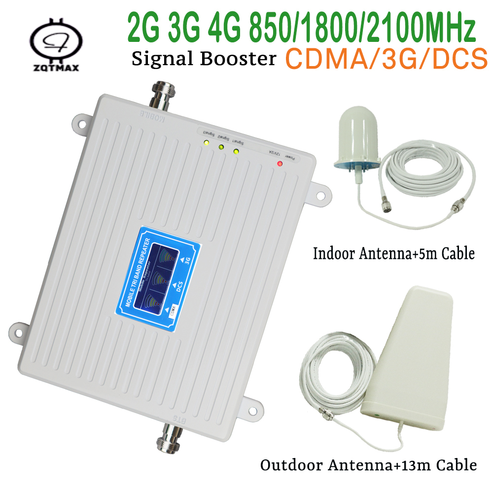 Mini Mobile Signal 2g 3g 4g Repeater With Ceiling Antenna Cellular Signal Booster For Voice Indoor Signal Booster For Office