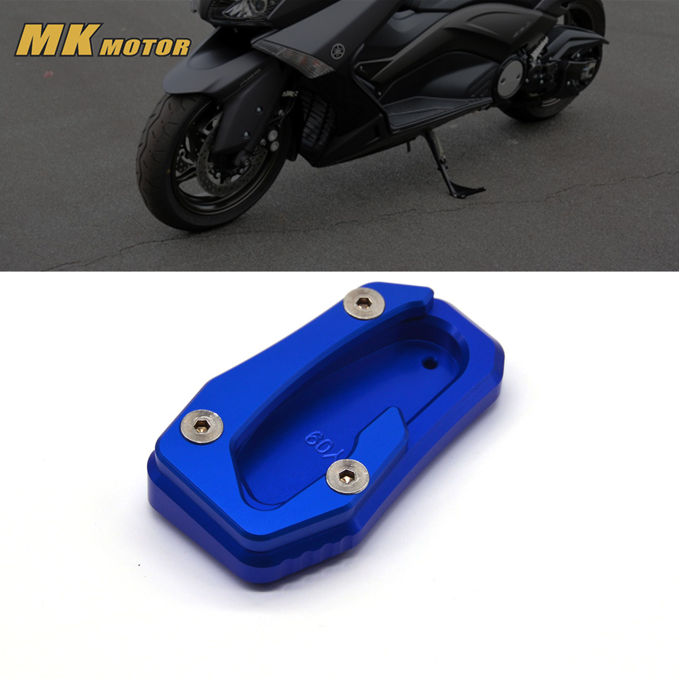 Motorcycle accesspries for YAMAHA T-MAX T MAX TMAX 530 SX/DX 2017 2018 CNC Kickstand Side Stand Plate Pad Enlarge Extension цена