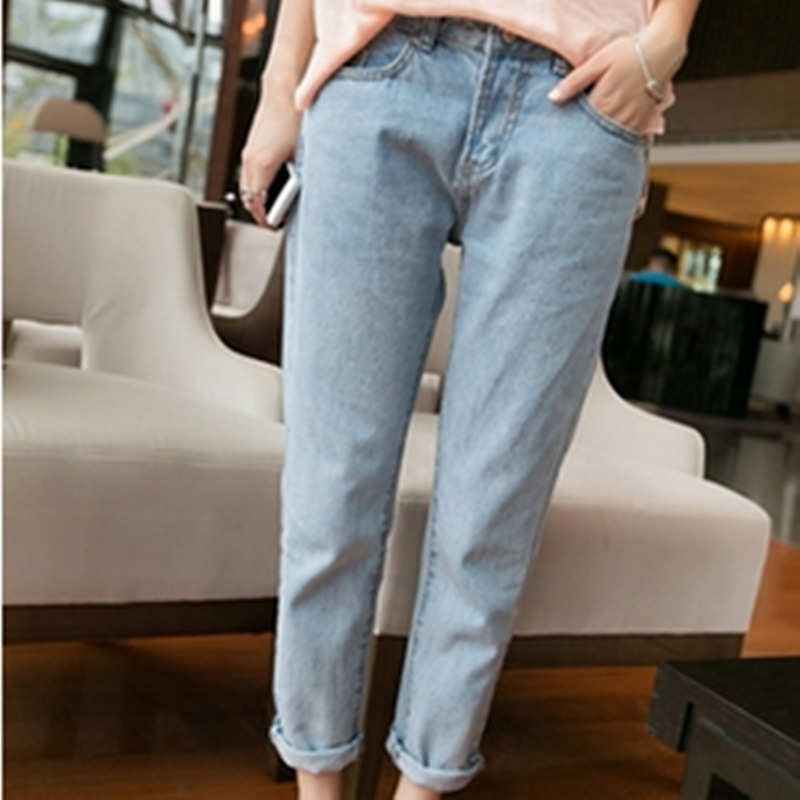 2015 new European style boyfriend jeans for women wind Washed ...