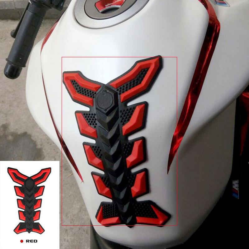 Rubber Fish Bone Motorcycle Stickers and Decals Self-adhesive 3D Car Vinyl Waterproof Motorbike Fuel Tank Styling