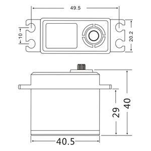 Image 2 - JX DC6015 Servo 15kg Aluminium Shell Metal gear Core Digital Standard for RC plane car 0.1sec 6.6V 1/8 1/10 DS3325MG
