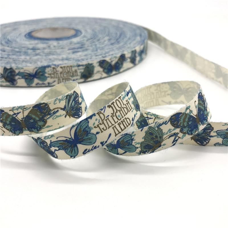 5 ярдов/лот 15 мм хлопчатобумажная лента ручной работы дизайн печатные хлопковые ленты для свадьбы Рождественское украшение DIY швейная ткань - Цвет: 08