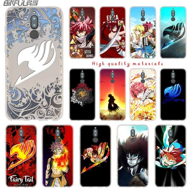 Fairy Tail logo Silicone Case for Huawei Mate 10 Lite 10 20 Lite Pro 20X S Y5 2017 Y9 2018 2019 NOVA 3 3i 4 Y7