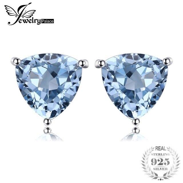 4c0e12d32cfc JewelryPalace billones de 1.9ct Topacio azul cielo Natural de piedra de plata  esterlina 925 puro
