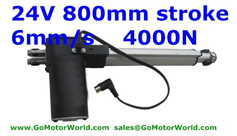 Линейный привод, 800 мм, 32 дюйма, постоянный ток, 24 В, 4000N, 5 мм/сек.