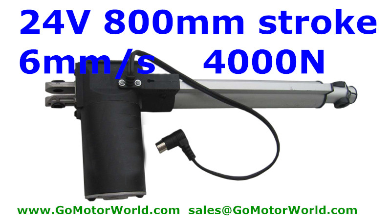 800mm 32inch stroke DC 24V 4000N force 5MM/S speed Linear actuator Free shipping