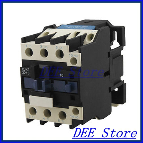 ФОТО CJX2-3210 Motor Control AC Contactor 32 Amp 3 Phase 3-Pole One NO 380V Coil