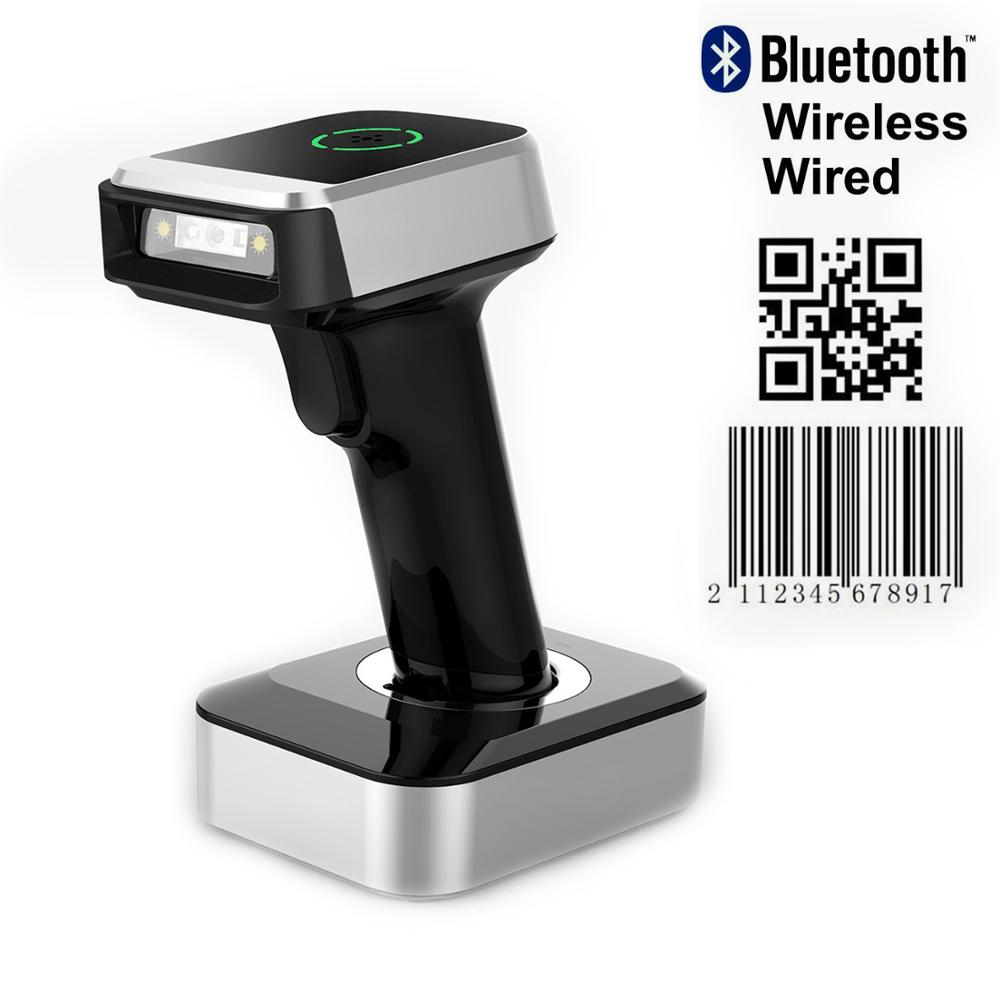 isyzonepos leitor de codigo de barras bluetooth scanner qr sem fio com fio 1d 2d imagem