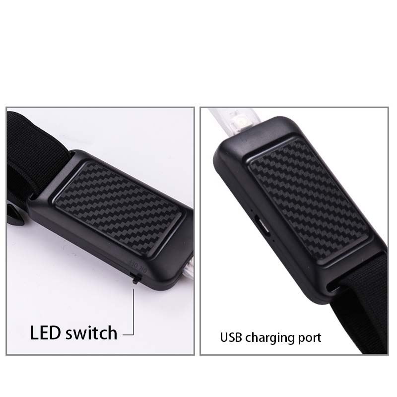 High Quality Cycling Safety Warning Waist Belt Glow Riding Running Outdoor Night Sports LED MTB Bicycle Bike Light Accessories