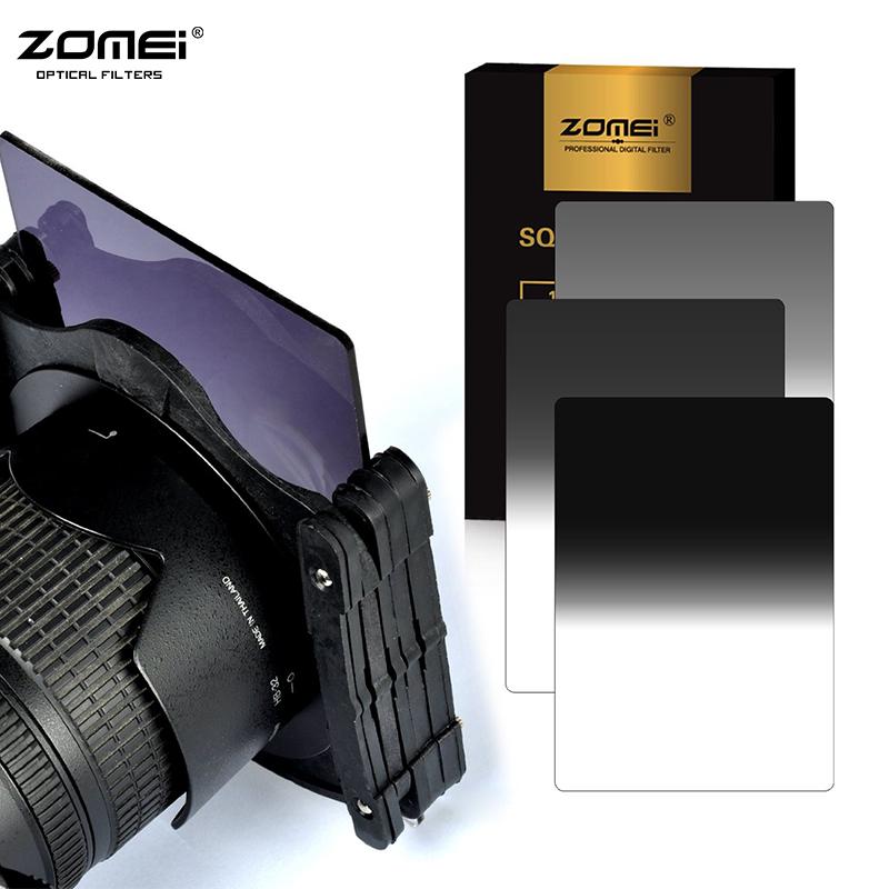 Prix pour Zomei 3 dans 1 Gradient Gris 100*150 MM Carré ND16 ND4 ND8 filtre Densité Neutre pour Cokin Z Lee Titulaire série
