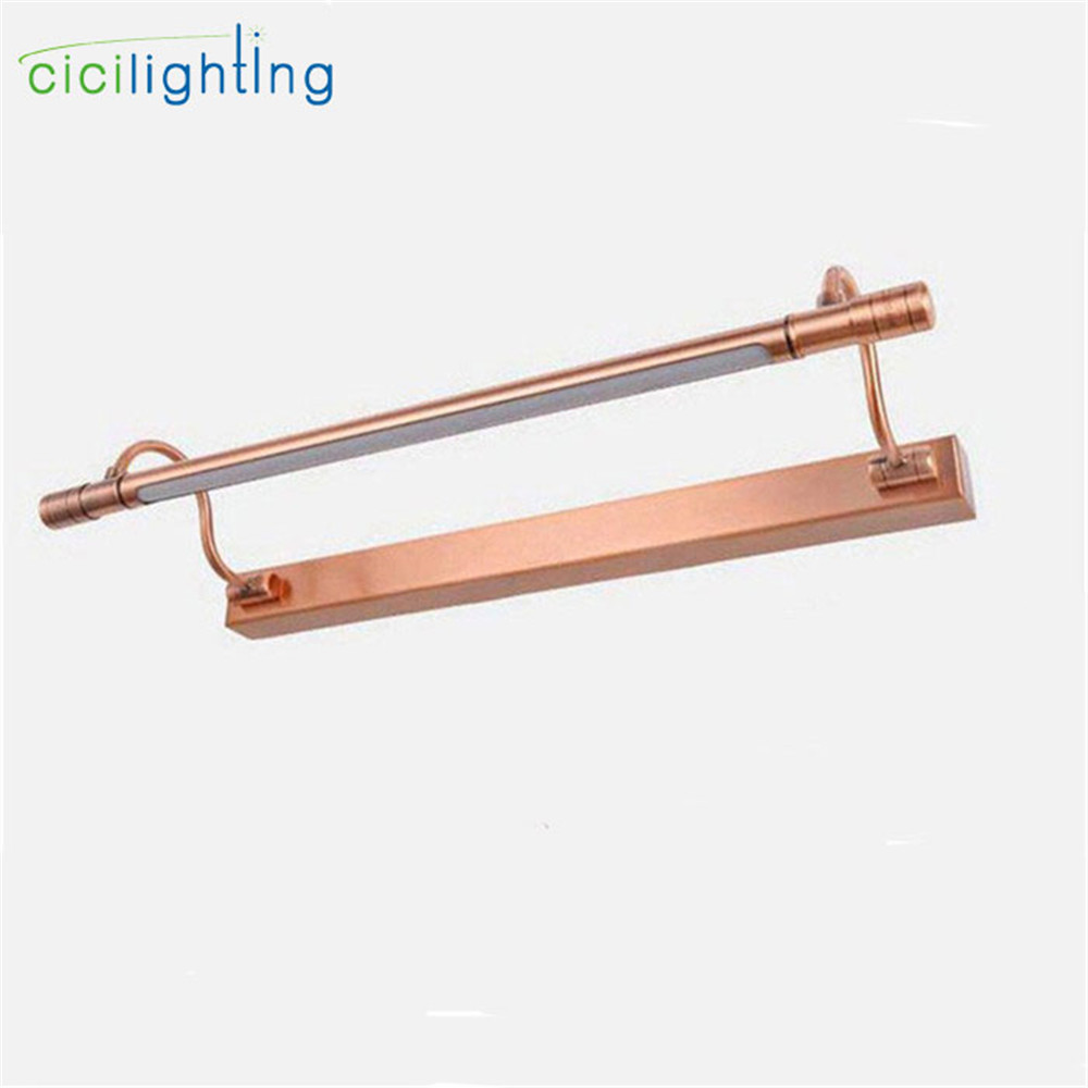 100V - 240V 10W 65cm Red Bronze LED European bathroom mirror light modern Vanity lights LED wall lamp Industrial Kitchen lights