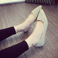 2016 Fashion Women Shoes Woman Flats high quality suede Casual Comfortable pointed toe Rubber Women Flat Shoe Hot Sale New Flats