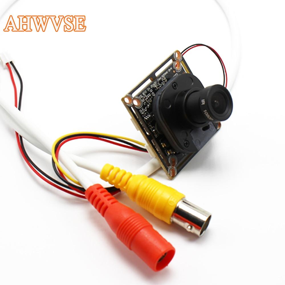 AHWVSE Ultra Faible Éclairage HD AHD Caméra CMOS 2000TVL 2.8mm 16mm objectif 1MP 1.3MP 2MP 720 P 1080 P Mini Caméra Pour AHD DVR