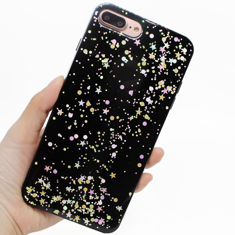 separation shoes 54af3 503dd US $2.49 |For iPhone 7 Case Glitter Sparkle Shiny Bling Jet Black Soft  Silicone Rubber Phone Cases Cover Shell For iPhone 6 6s 7 Plus-in Fitted  Cases ...