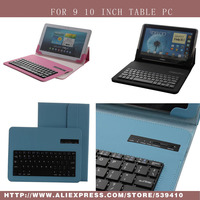 Luxury Universal Detachable Bluetooth ABS Keyboard With Leather Case Stand For Lenovo IdeaTab S6000 10 1