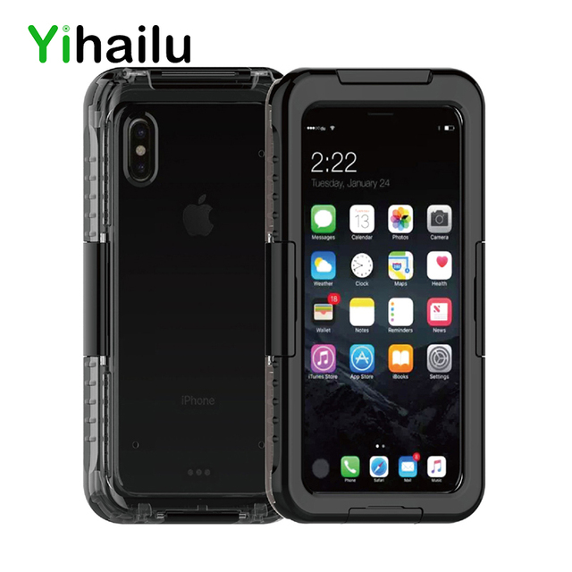 release date: 1af6e f2ac1 US $12.59  Waterproof Case For iPhone X Hybrid Swimming Diving Water Shock  Proof Cover Outdoor Phone Cases For iPhoneX Skiing Back Cover-in Fitted ...