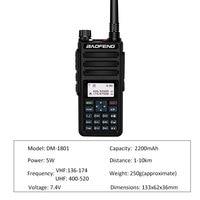 מכשיר הקשר dual band Baofeng DM-1801 Dual Band Dual זמן חריץ DMR דיגיטלי / אנלוגי 2way רדיו 136-174 / 400-470MHz 1024 ערוצים Ham מכשיר הקשר DMR (3)