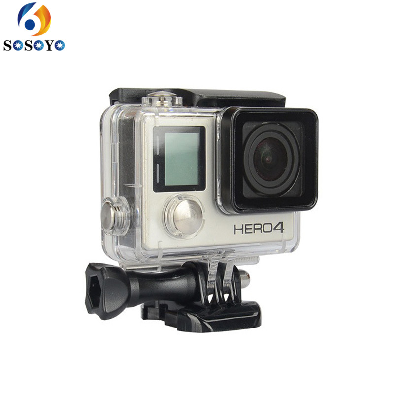 for go pro waterproof housing case underwater protective for gopro hero 3 plus for gopro hero. Black Bedroom Furniture Sets. Home Design Ideas