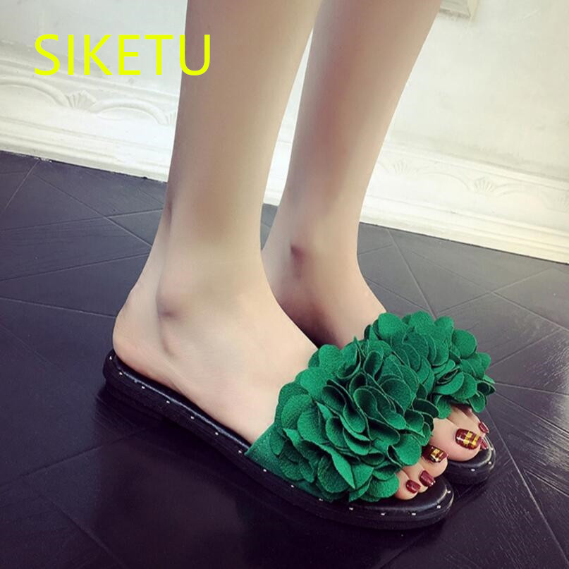 SIKETU Free shipping Summer sandals Fashion casual shoes sex women shoes flip flop Flat shoes Flats l051 Flowers flip flop free shipping summer new women shoes fashion sexy high heels shoes wedding shoes pumps g138 casual sandals flip flop
