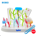 New 2017 antibacterial baby bottle drying rack simple tree shape Cleaning Drying Rack Shelf Feeding dryer for baby's bottle GK