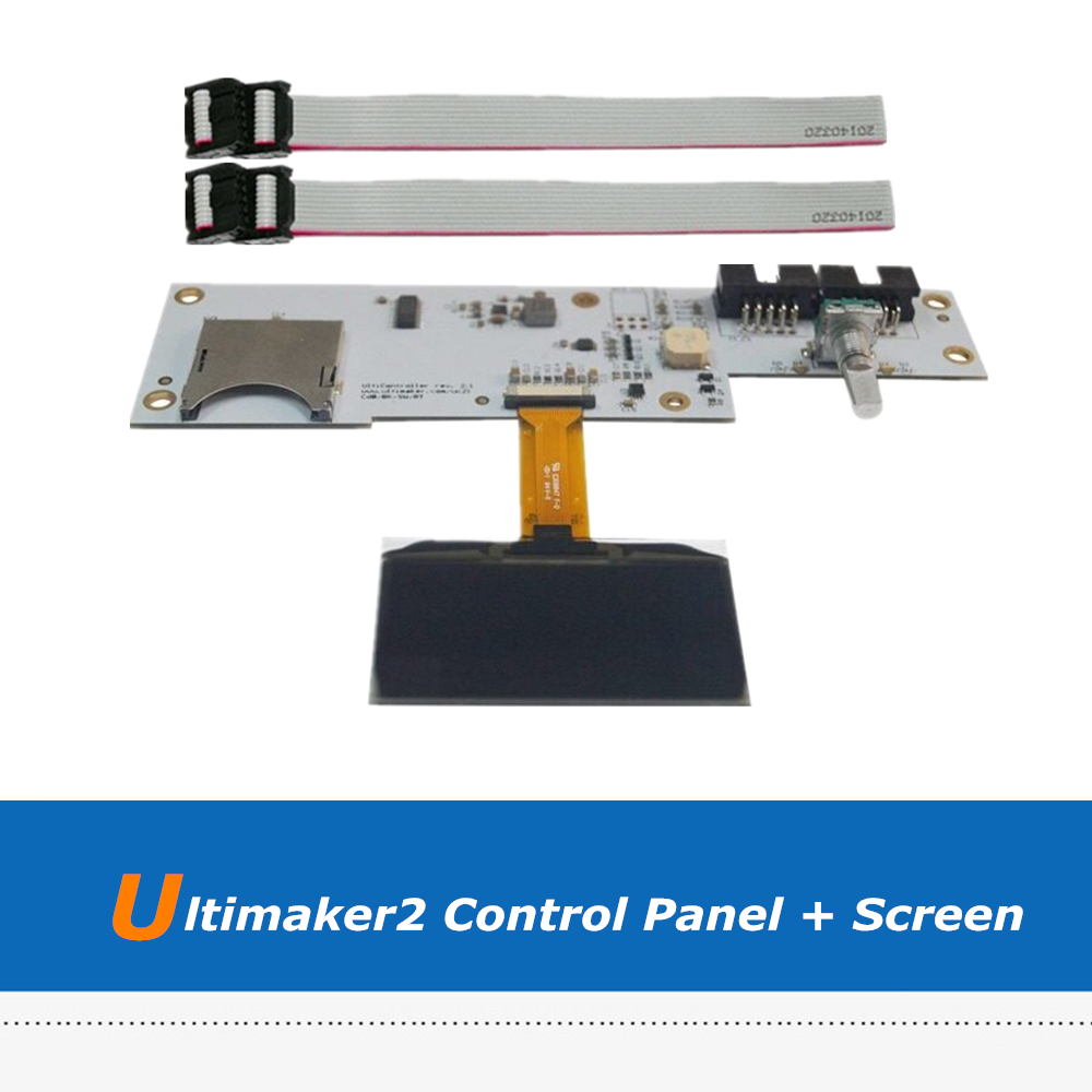 1pc 3D Printer Board Parts Ultimaker 2 3D Printer OLED Screen + UM2 LCD Control Panel Board With 2pcs FCC Cable lt37700 lt40600 juj7 820 357 4 board with 370wxn screen%2