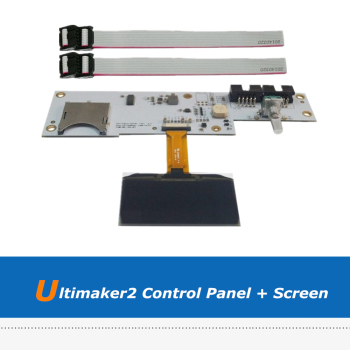 цена на 1pc 3D Printer Board Parts Ultimaker 2 3D Printer OLED Screen + UM2 LCD Control Panel Board With 2pcs FCC Cable
