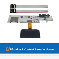 1pc 3D Printer Board Parts Ultimaker 2 3D Printer OLED Screen + UM2 LCD Control Panel Board With 2pcs FCC Cable