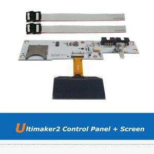 1pc części drukarki 3D Ultimaker 2 drukarka 3D ekran OLED + UM2 Panel sterowania LCD z 2 sztuk kabla FCC