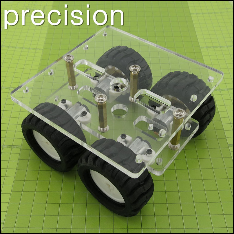 Acrylic 4*N20 gear motor Smart car set,Small car chassis robot DIY ...