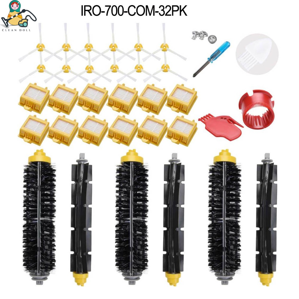 Replacement spare parts side Brush HEPA Filter roller Main brushes for iRobot Roomba 700 770 780 790 accessoriesReplacement spare parts side Brush HEPA Filter roller Main brushes for iRobot Roomba 700 770 780 790 accessories