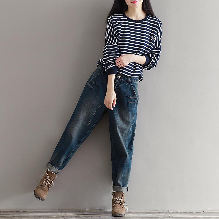 17 Winter Big Size Jeans Women Harem Pants Casual Trousers Denim Pants Fashion Loose Vaqueros Vintage Harem Boyfriend Jeans 6