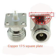 10pcs/lot   All copper RF connector N-KF-5-3 mobile phone signal amplifier connector N type / L16 female square plate flange rf adapter n type n male plug to 2 n female 3 way t type long version connector